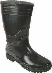 Black Leather Safety Gumboots