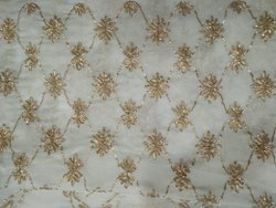 Designer Ribbon Embroidered Fabric