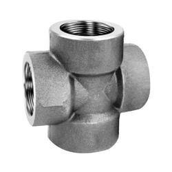 Mild Steel Forged Cross Socket Weld Screwed Female 3000 Lbs, Size: From 1/4 to 3 inch
