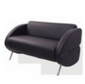 Black Two Seater Office Sofa