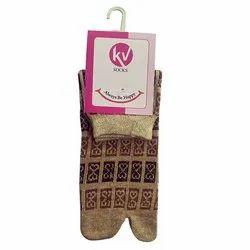 Ladies Designer Thumb Lycra Socks