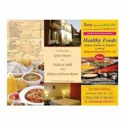 Paper Menu Card Printing Services, For Hotels, in Pan india