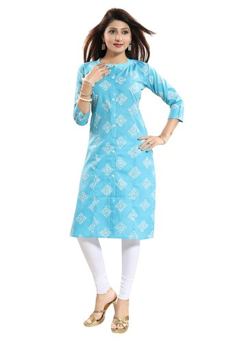 Printed Casual Wear ALC Creations Women' ' s Cotton Kurti