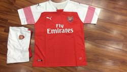 d69fd1698 Full   Half Sleeves 2018 19 Arsenal Home Jersey