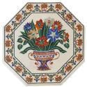 Pietra Dura Lapiz Lazuli Marble Inlay Table Top