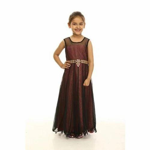 c7f7871a5db Draaz Impex Georgette Kids Party Wear Dress