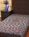 Kantha Work Printed Cotton Decorative Boho Double Bed Spread