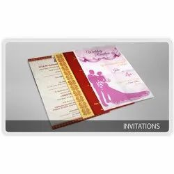 Paper Pull-Out Insert Printed Invitation Card