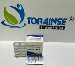 Elemental  Calcium 1000mg  Vit. D3  200 I.U. Zinc Sulphate 10 mg  Magnesium Hydroxide 100mg