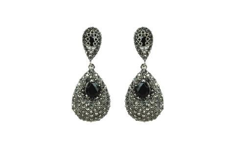 Ankur Astonishing Black Plated Diamond Earring For Women