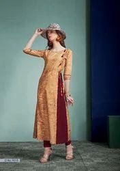 Beige A Line Dress