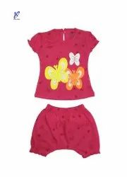 Baby Girl Half Sleeve Top With Bloomer