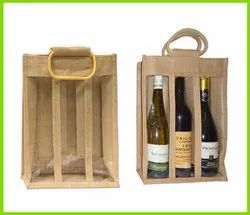 Jute 3 Bottle Bag