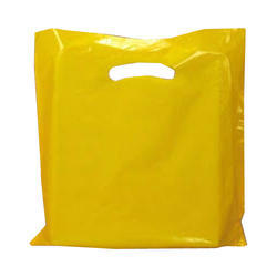 Plain Yellow Plastic D Cut Bag