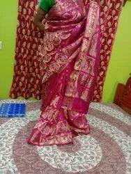 Hand weave Mythological Bishnupuri Silk Saree (Swarnachuri), 6.3 m (with blouse piece)
