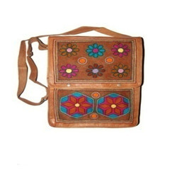 Leather Casual Wear Embroidered Bags
