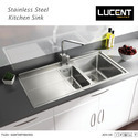 Silver Lucent Steel Sink, Packaging Type: Box
