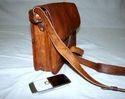 Vintage Leather Curve Sling Bag