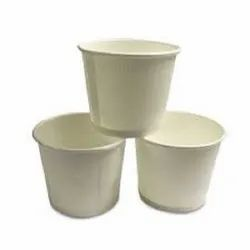 White Plain Disposable Paper Cups, Packet Size: 100 Pieces, Capacity: 50 Ml