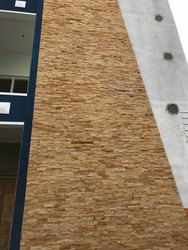 External teakeood Natural Sand Stone Split Face, For Exterior/Interior, Thickness: 15-20 mm