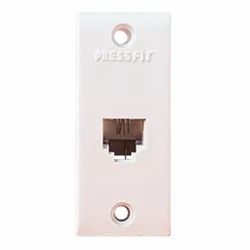 Press Fit Non Modular 2 Line Telephone Jack - Telephone Socket