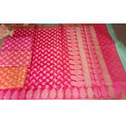 Banarasi Supernet Cotton Saree