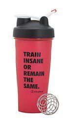 Ishake Warrior Shaker Bottle, 600 Ml (Red)