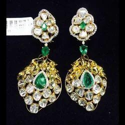 92a76c8fc Semi Precious Diamond Earring at Rs 180700 /pair | Girgaon | Mumbai ...