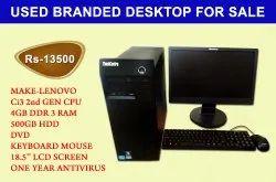 i3 USED LENOVO DESKTOP, Model Name/Number: Lenovo Thinkcenter, Memory Size: 4GB