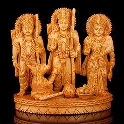 Wooden Ram Laxman Sita Statue
