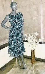 Blue Chiffons Dress
