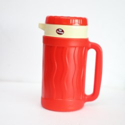 Prince Plastic + Stainless Steel Insulated Tea Thermos Flask, Screw Cap, Capacity: 1200 Ml