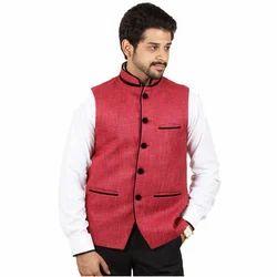 Red Plain Modi Jacket