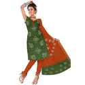Bandhej Green Fancy Suit