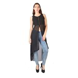 Small,Medium And Large Plain Ladies Black Dress