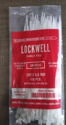 Lockwell Cable Te 200 x 4.0 White