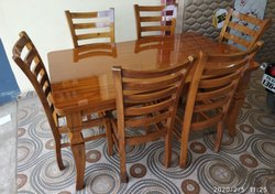 Wooden Dining Table 4 Seater / 6 Seater