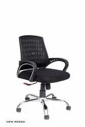 SMF Black Office Revolving Chair
