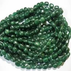 16 Strand Green Aventurine Smooth Tumble Stone Beads