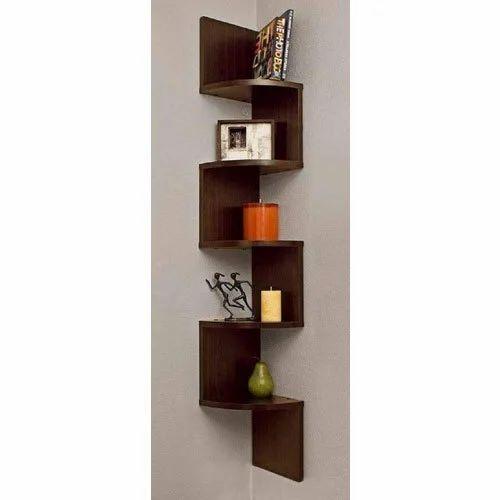 Dot In Wooden Corner Wall Shelf