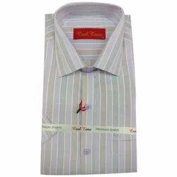 Stripes Mens Casual Wear Stripe Print Cotton Shirt, Handwash