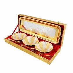 Designer Silver & Gold Plated Bowl Set