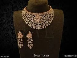 Heavy Traditional AD Necklace Set