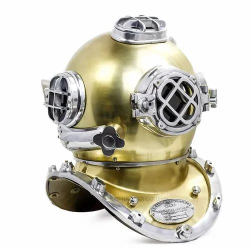 "Antique Vintage 18/"" Diving Helmet US Navy Mark V Deep Sea Divers Helmet Replica"