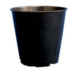 Black Plastic Round Pot