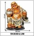 Decorative golden look laughing buddha