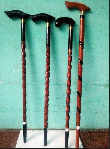 Fancy Kashmiri Wooden Walking Sticks Indian Handicraft Mumbai