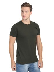 Mens Plain Cotton Regular T Shirt