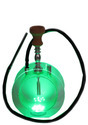 Imported New Round Acrylic Transparent Hookah Set Water Pipe With 10 Color lighting Sheesha Silicone
