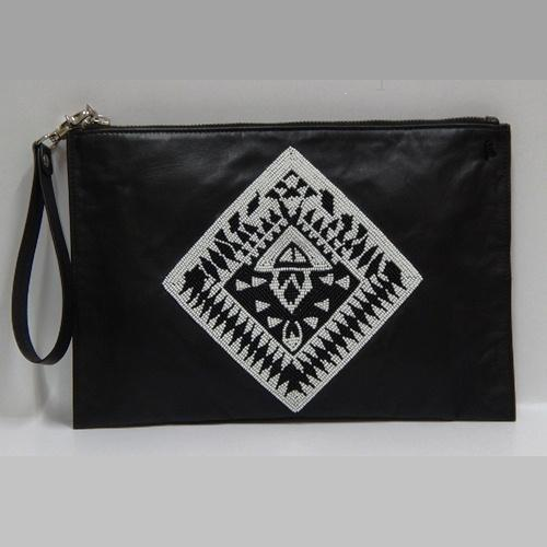 13247f277eb9 Embroidered Leather Pouch